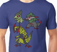 Axew, Fraxure and Haxorus Unisex T-Shirt