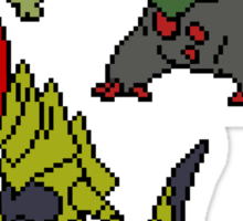 Axew, Fraxure and Haxorus Sticker