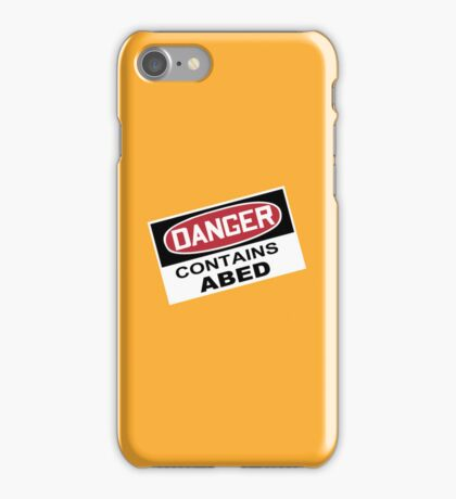 DANGER: Contains Abed iPhone Case/Skin