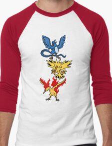 Articuno, Zapdos and Moltres Men's Baseball ¾ T-Shirt