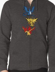 Articuno, Zapdos and Moltres Zipped Hoodie