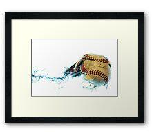 Baseball explosion  Framed Print