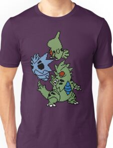 Larvitar, Pupitar and Tyranitar Unisex T-Shirt