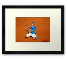 Rafael Nadal win his 6th French Open Tennis 2011 Framed Print
