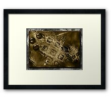 ©DA Fractal In Abstract IA1-X Sepia Framed Print