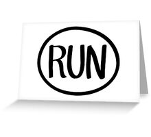 Run Greeting Card