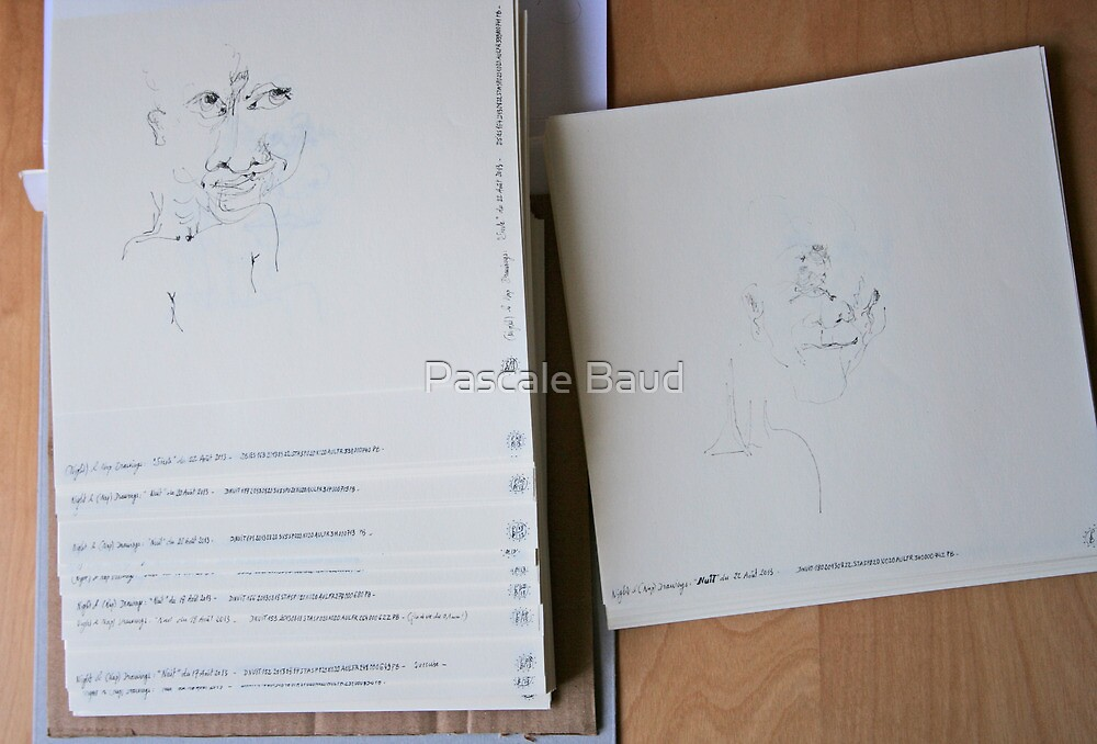 250 Night & Nap drawings - summer 2013 by Pascale Baud