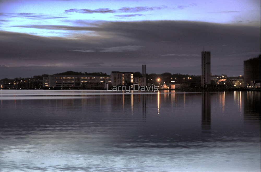 Morning Blue on the Aalborg Limfjord   (3) by Larry Lingard-Davis