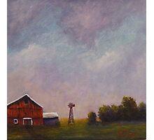 Windmill farm under a stormy sky. Photographic Print