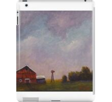 Windmill farm under a stormy sky. iPad Case/Skin
