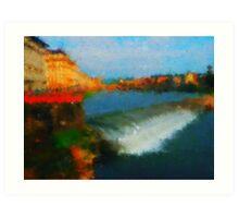 Firenze  bridges Art Print
