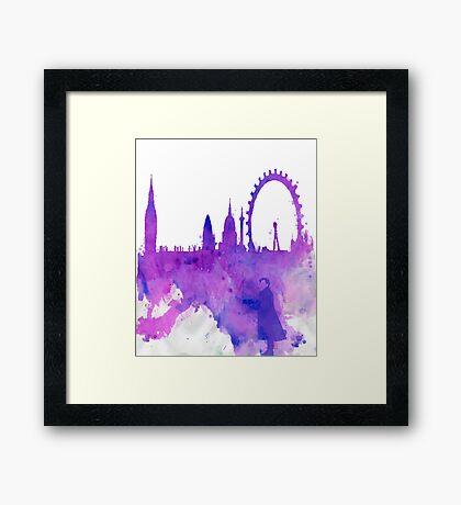 A Watchful Eye on London Framed Print