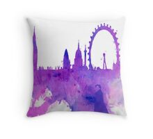 A Watchful Eye on London Throw Pillow