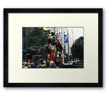 Louis Armstrong Statue NY Framed Print