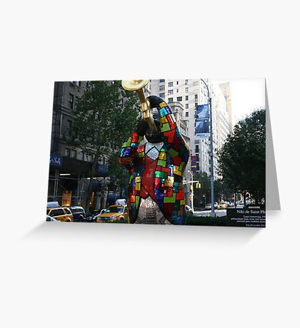 Louis Armstrong Statue NY Greeting Card