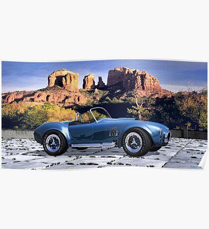 Oak Creek Canyon Shelby Cobra Poster