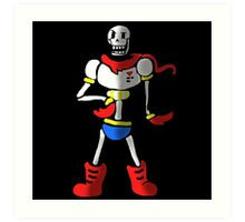 Undertale The Great Papyrus Art Print