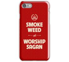 Smoke Weed - Worship Sagan iPhone Case/Skin