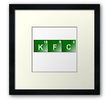 KFC Elements Framed Print