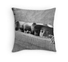 curious children Throw Pillow