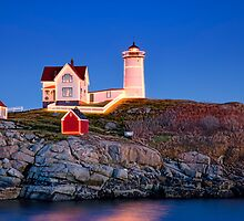 Nubble at Christmas by Richard Bean