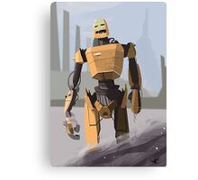 Scrapheap Skullbot. Canvas Print