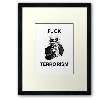 F Terrorism Framed Print