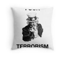 F Terrorism Throw Pillow