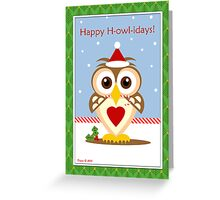 Owl Happy Holidays Card Greeting Card