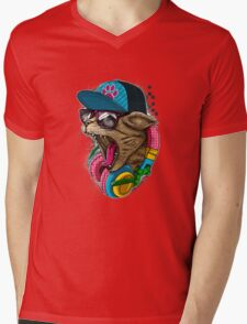 Cool And wild Cat Mens V-Neck T-Shirt