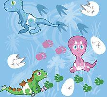 Dinosaur Babies by thekohakudragon