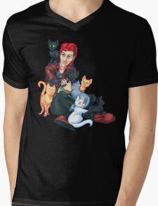 Josh Dun + Cats Mens V-Neck T-Shirt