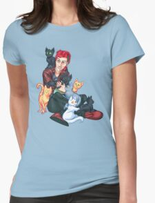 Josh Dun + Cats Womens Fitted T-Shirt