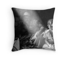 Happy family from Madagascar Throw Pillow