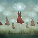 Heads inside a dream by Amanda  Cass