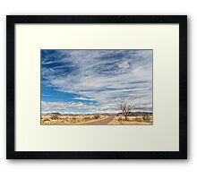 Cloudplay over a Desert Grassland Framed Print