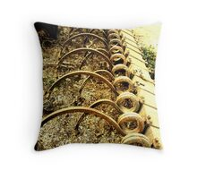 The Beauty of Organic Farm Equipment 2 Throw Pillow