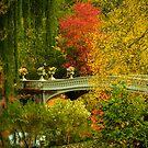 Bow Bridge In Autumn by Randy  Le'Moine