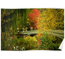 Bow Bridge In Autumn Poster