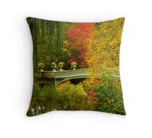 Bow Bridge In Autumn Throw Pillow