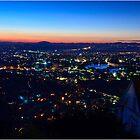 Antananarivo at sunset, blue hour by Fidisoa Rasambainarivo