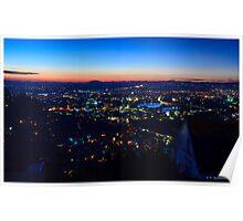 Antananarivo at sunset, blue hour Poster