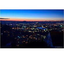 Antananarivo at sunset, blue hour Photographic Print