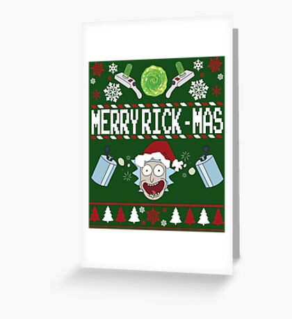 Merry Rick-Mas Greeting Card