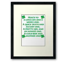 Irish Poem Framed Print