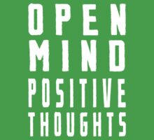 Open Mind Positive Thoughts Kids Tee