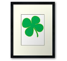 Green Shamrock Framed Print