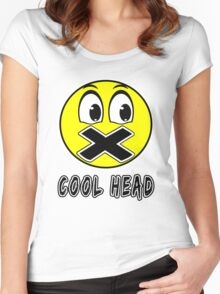 Cool Head Yellow Freak Women's Fitted Scoop T-Shirt