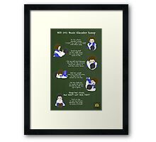 BJJ 101: Basic Elevator Sweep Framed Print