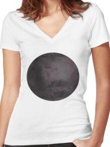 Star Cluster Sphere Women's Fitted V-Neck T-Shirt